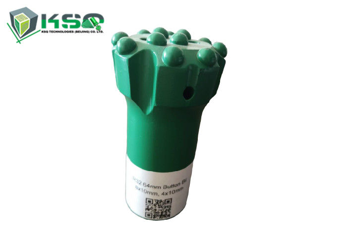 R32 64mm Button Drill Bit With High Grade YK05 Tungsten Carbide Inserts