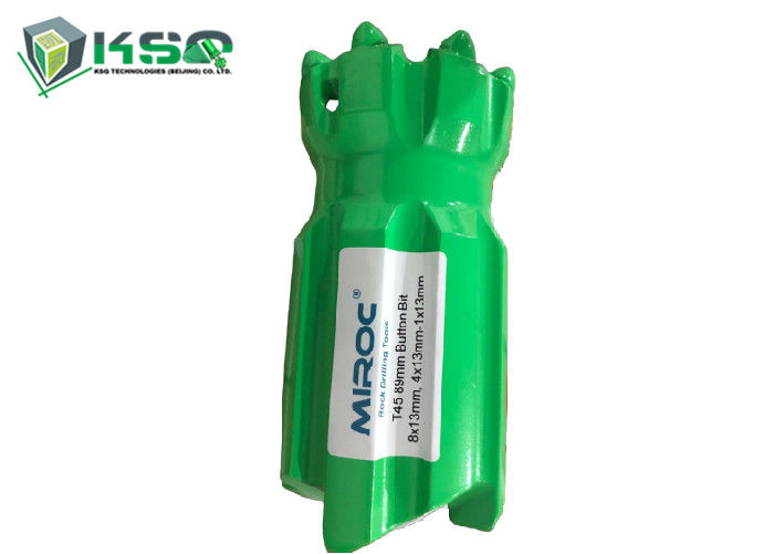 T45 89mm Threaded Button Drill Bit with Retrac Body For Long Hole Drilling