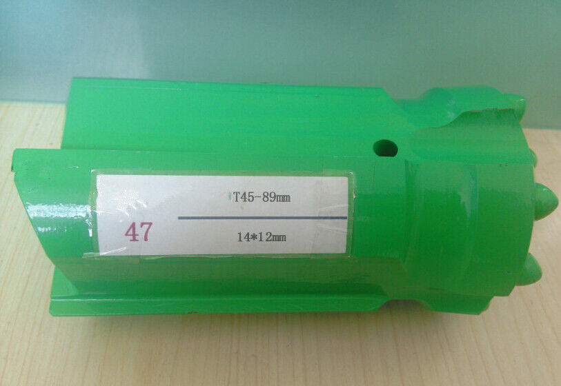 Ballistic T45 Quarrying Button Drill Bit , Green Threaded Drilling Tools
